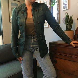 DVF unique 100% lamb leather jacket